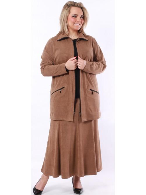 Semišová sukně